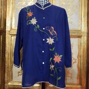 Gorgeous Vintage Oriental Style Tunic